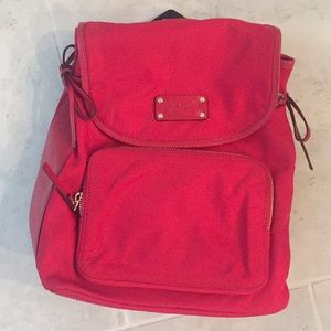 Kate spade red backpack purse